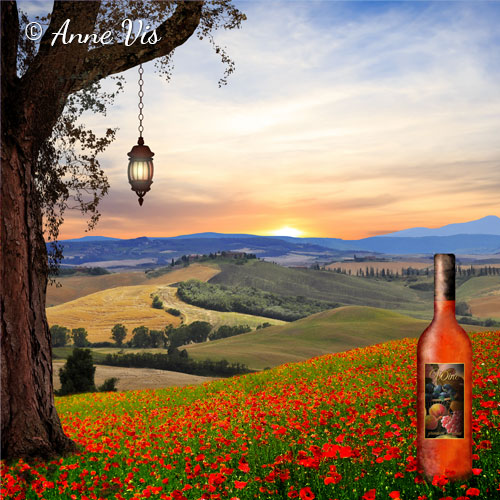 Landscape with Wine