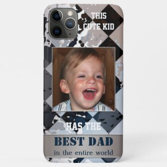 Geometric abstract cute kid father phone case