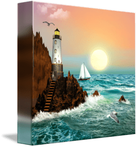 The Lighthouse 3 painting