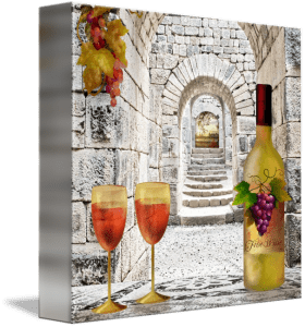 Toast to Wine Lovers Fine Art Painting