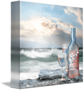 Wine at the Beach Fine Art Painting