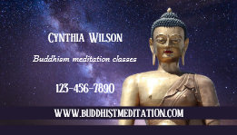 Buddhist Meditation Teacher Business Card