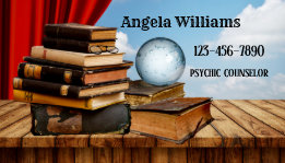 Crystal Ball Psychic or Clairvoyant Business Card