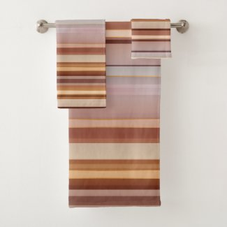 bathroom towel set in coffee mauve colors