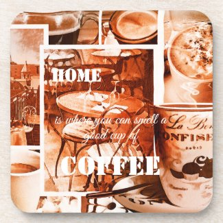 French vintage watercolor coffee coaster
