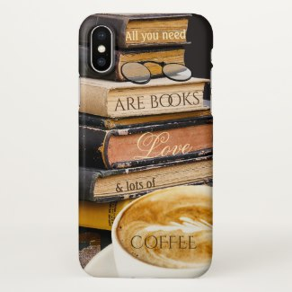 Funny nerds books and coffee phone case