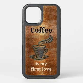 Funny rustic coffee lover phone case