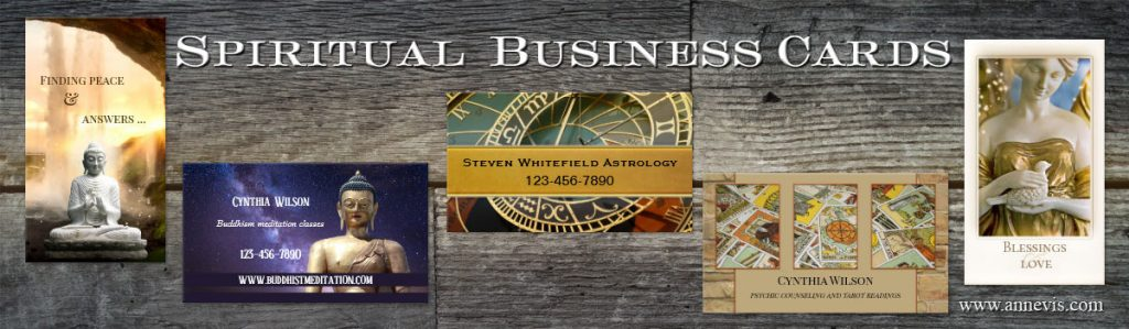 Spiritual business cards