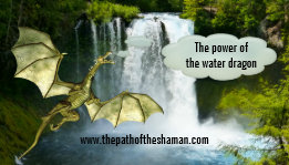 Water Dragon Waterfall Shaman Business Card