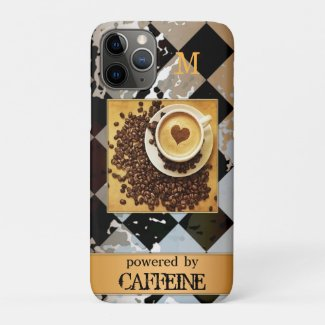 Your photo monogram personalized coffee lover phone case