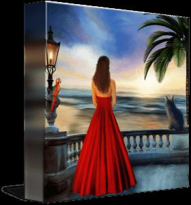 Tropical Sunset Fine Art Painting