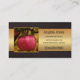 professional dietitian or nutritionist photo business card template