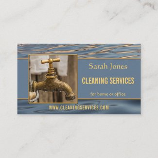 Your photo water cleaning services business card