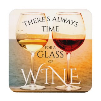 Artistic wine themed beach coaster