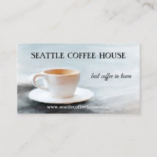 Best Coffee in Town QR code Painted Business Card