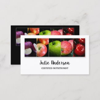 Dietitian or Nutritionist Health Food Business Card