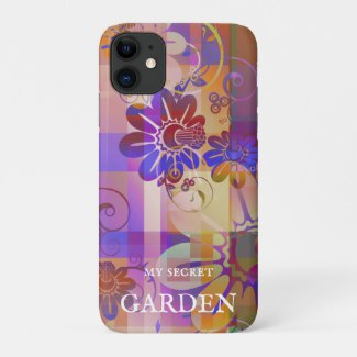 Purple Abstract Floral Art Phone Case