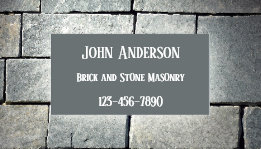 Bricklayer Stone Masonry Builder Business Card
