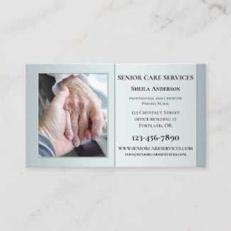 Professional Senior Care Custom Photo Business Card
