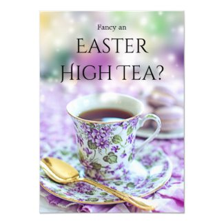 British Style High Tea or Easter Brunch Invitation