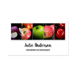 Dietitian Nutritionist Health Food Business Card