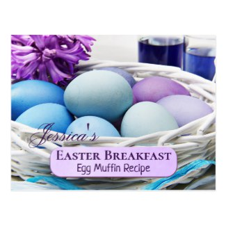 Personalized Easter Breakfast Recipe Template Postcard and Easter Inspiration