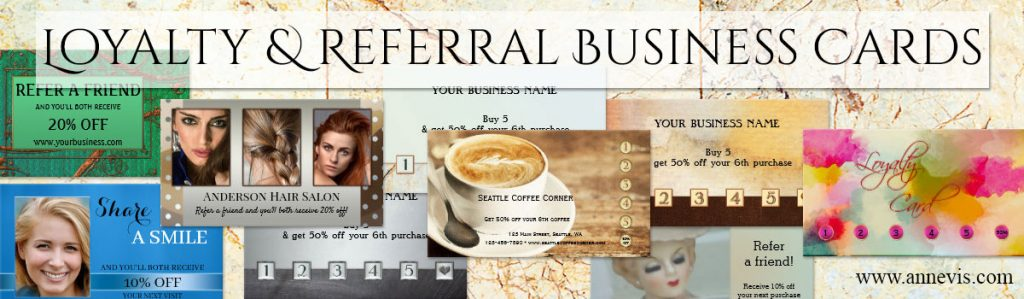 Referral and Loyalty Business Cards