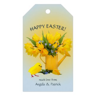 Spring Flowers Chic Easter Gift Tag