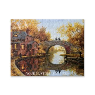 Autumn Landscape with River Puzzle