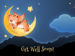 Child Dream Night Get Well Soon Postcard