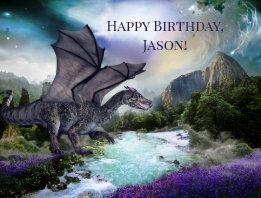 Dragon Fantasy Sci Fi Child Birthday Postcard