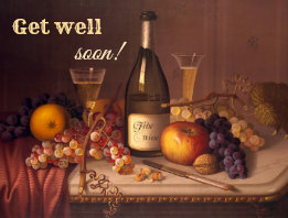 Get Well Soon Vintage Still Life Postcard