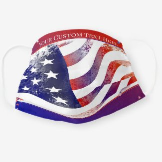 American flag patriot red white and blue face mask