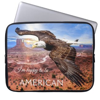 Bald Eagle US Monument Valley Laptop Sleeve