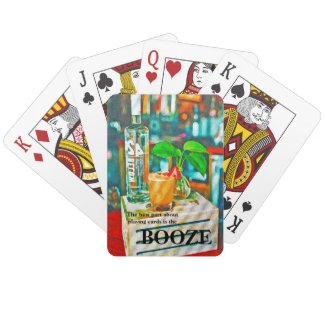 Funny booze art drinks poker playing cards