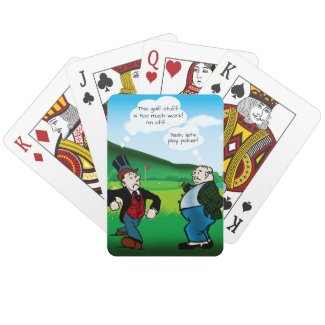 Funny Golf Themed Poker Playing Cards