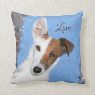 Painted Fox Terrier Dog Lover Pillow