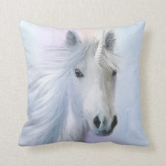 Rainbow Unicorn Fantasy Pillow