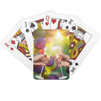 Wine Lovers cheers birthday or celebration playing cards