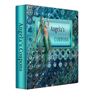 Personalized Artistic Mermaid Binder