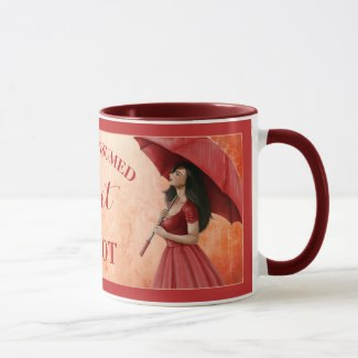 Fine art girl with umbrella personalized mug