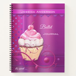 Purple cupcake bullet journal