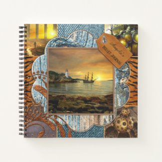 Scrapbook style personalized photo bullet journal notebook