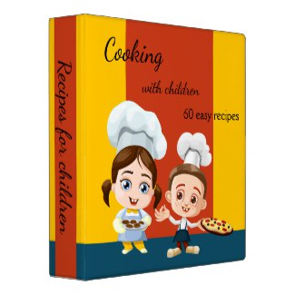 Cartoon kids children recipe cookbook
