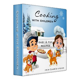 Cooking with children - winter recipe binder - personalized binders