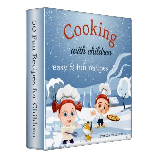 Funny Kids Cooking Winter Recipe Binder