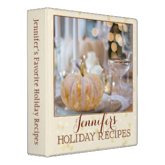 Ivory Sparkling custom photo Holiday personalized binder