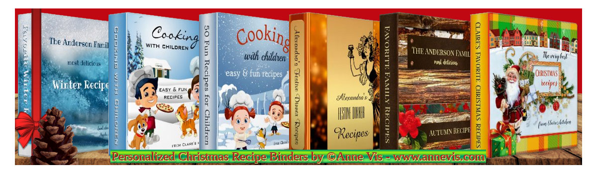 Personalized Christmas Recipe Binders