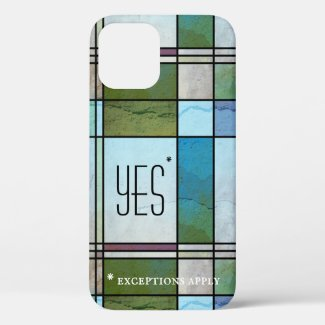 Abstract leaded glass art deco personalized phone case