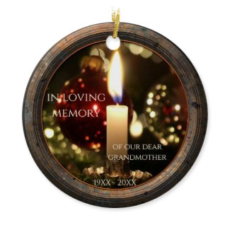 Candle memorial Christmas Personalized ornament
